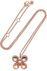 Larkspur And Hawk Sadie Butterfly Rose Gold Dipped Quartz Necklace One Size