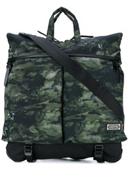 Master Piece Camouflage Tote Men Polyester One Size Green