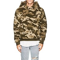 Atm Anthony Thomas Melillo Camouflage Sherpa Hoodie Green