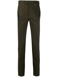 Les Hommes Straight Leg Tailored Trousers Green