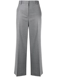 The Row Flannel Cropped Trousers Grey