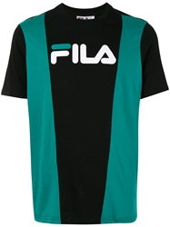 Fila Colour Block Logo T Shirt Black