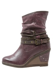 Mustang Wedge Boots Bordo Bordeaux