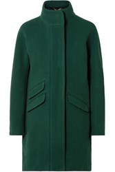 J.Crew Cocoon Wool Blend Coat Forest Green