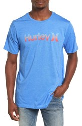 Hurley Men's One And Only Dri Fit T Shirt Light Photo Blue