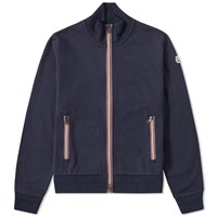 Moncler Stripe Trim Track Top Blue