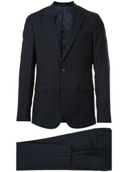 Cerruti 1881 Classic Two Piece Suit Polyester Wool Blue