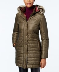 Barbour Rossendale Faux Fur Hooded Quilted Puffer Coat Olfry