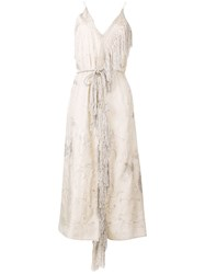 Forte Forte Floral Embroidered Dress Neutrals