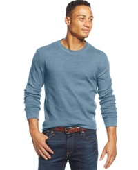 Club Room Big And Tall Thermal Long Sleeve T Shirt Only At Macy's Blue Fog