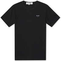 Comme Des Garcons Play Basic Logo Tee Black And Black