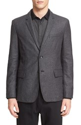 Rag And Bone Men's 'Philips' Trim Fit Sport Coat Charcoal