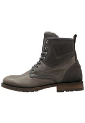 Pier One Laceup Boots Dark Grey