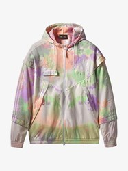 Adidas By Pharrell Williams Pastel Print Zipped Jacket Red