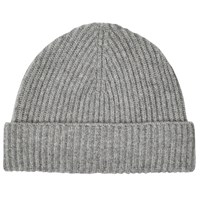 Johnstons Of Elgin Cashmere Beanie Hat Grey