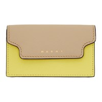 Marni Beige And Yellow Envelope Card Holder