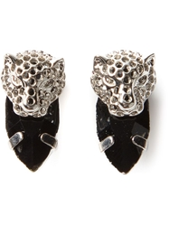 Iosselliani 'Cheetah' Earrings Metallic