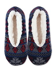 Sperry Acrylic Sherpa Slippers Navy