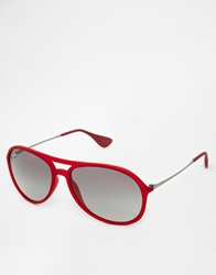 Ray Ban Alex Aviator Sunglasses Red