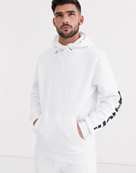 Bench Co Ord Hoodie Relaxed Fit With Side Logo In White