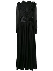 Genny Victorian Long Dress Black