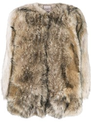 Urbancode Faux Fur Jacket Neutrals