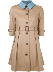 Guild Prime Buttoned Belted Trench Brown