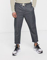 Tom Tailor Trousers With Elasticated Waist In Check Grey