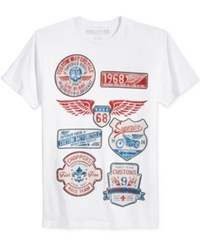 Ring Of Fire Men's Graphic Print T Shirt Only At Macy's White