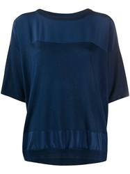 Max And Moi Contrast Panels Silk Cashmere Blend Knitted Top 60