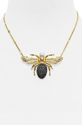 Women's Baublebar 'Queen Bee' Pendant Necklace Clear Gold
