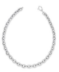 Macy's Large Oval Link 20 Chain Necklace In Sterling Silver