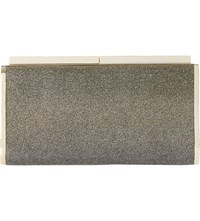 Dune Brixxton Box Clutch Gold Metallic Fabric