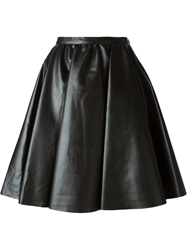 Amen Faux Leather A Line Skirt Black