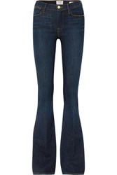 Frame Le High High Rise Flared Jeans Dark Denim Gbp