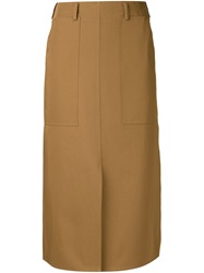 Sofie D'hoore 'Spice' Straight Skirt Brown