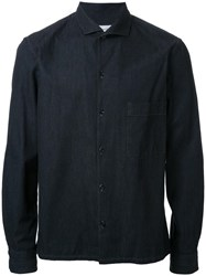 Christophe Lemaire Spread Collar Shirt Black