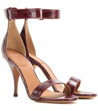 Givenchy Infinity Embossed Leather Sandals Red