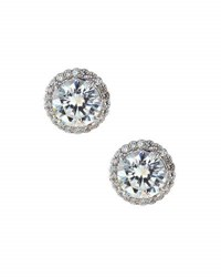 Fantasia Cz Stud Earrings Clear