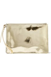Maison Martin Margiela Mm6 Embossed Metallic Faux Leather Pouch Gold