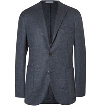 Boglioli Blue Slim Fit Wool And Cashmere Blend Blazer Blue