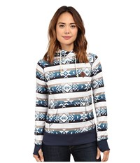 Burton Heron Pullover Banded Geo Small Women's Fleece Blue