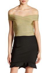 Wow Couture Bandage Crop Tank Green