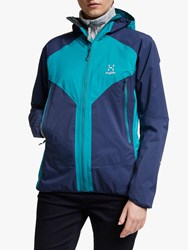 Haglofs L.I.M Proof Multi 'S Waterproof Jacket Tarn Blue Alpine Green