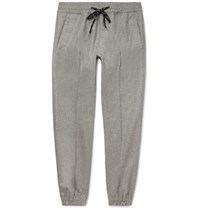 Marc Jacobs Tapered Virgin Wool Flannel Drawstring Trousers Gray