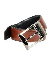 Tallia Orange Textured Leather Belt Reverse Black Cognac