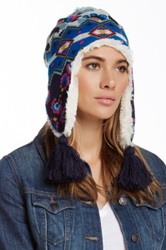 Muk Luks Faux Fur Lined Helmet Blue