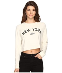 Culture Phit New York Long Sleeve Top Oatmeal Women's Clothing Brown