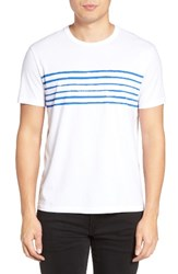 Jack Spade Men's Stripe Print T Shirt White