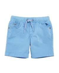 Mayoral Twill Stretch Drawstring Shorts Blue